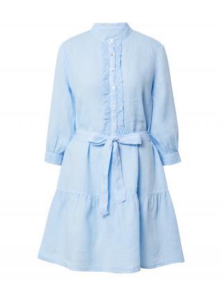 120% Lino Košeľové šaty  svetlomodrá dámské 36