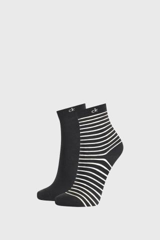 2 PACK dámskych ponožiek Calvin Klein Lilly čierne dámské ČIERNA uni