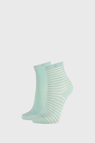 2 PACK dámskych ponožiek Calvin Klein Lilly zelené dámské zelená uni
