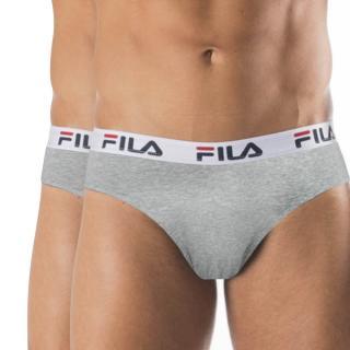 2 pack sivých slipov FILA pánské šedá XL