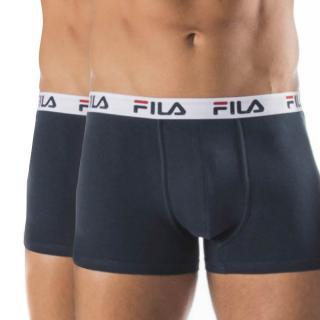 2 pack tmavomodrých boxeriek var.l FILA pánské modrá XXL