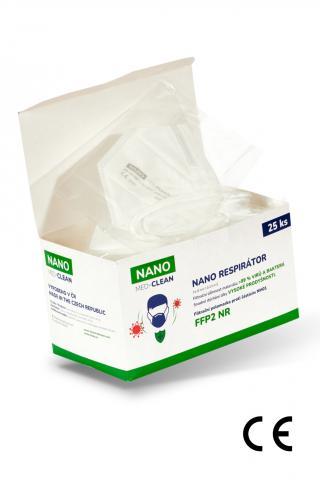 25x FFP2 respirátor NANO MED.CLEAN - B03/biela f00025