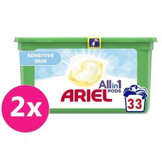2x ARIEL Allin1 Sensitive gélové kapsuly na pranie 33 pd