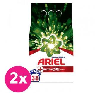 2x ARIEL AquaPuder OXI Extra hygiene prášok na pranie 38 pd