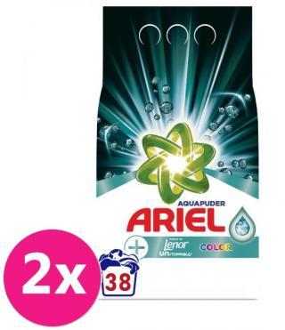 2x ARIEL AquaPuder Touch Of LENOR Color prášok na pranie 38 pd
