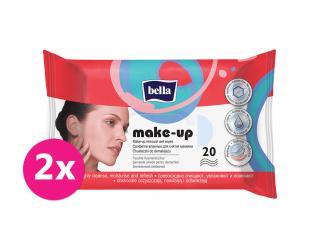 2x BELLA Make-up odličovacie vlhčené obrúsky, 20 ks