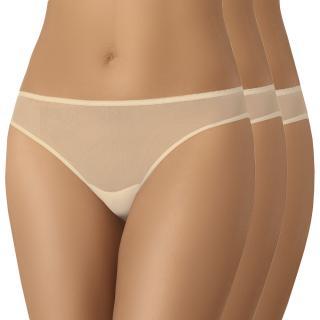 3 PACK klasických nohavičiek Aubrey Invisible dámské telová L