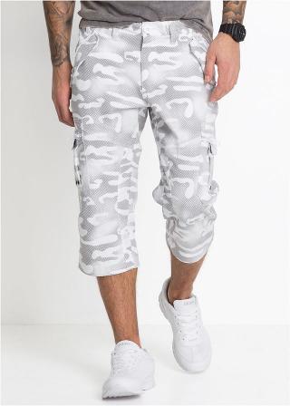 3/4-ové nohavice Fit Straight pánské biela 46,48,50,52,54,56,58,60