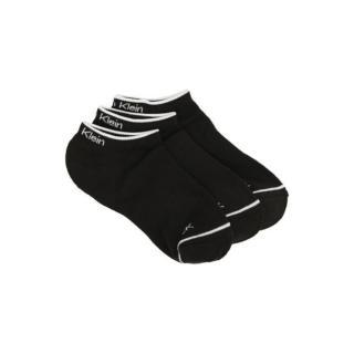 3PACK socks Calvin Klein low black  pánské Other One size