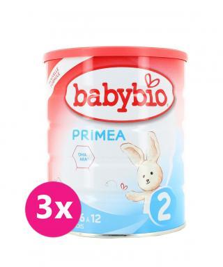 3x BABYBIO PRIMEA 2 dojčenské bio mlieko