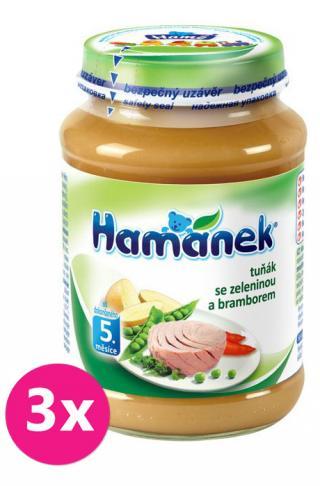 3x HAMÁNEK Tuniak so zeleninou a zemiakmi  - mäso-zeleninový príkrm