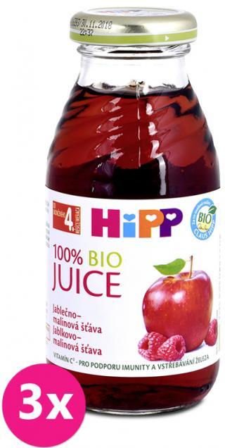 3x HIPP BIO Jablkovo-malinová šťava 200 ml