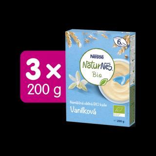 3x NESTLÉ Naturnes BIO Nemliečná kaša Vanilková 200 g