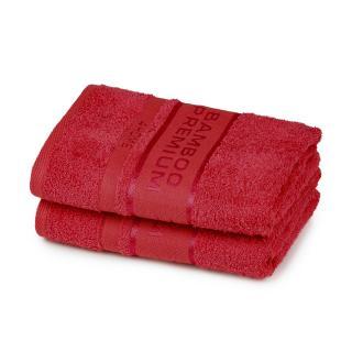 4Home Bamboo Premium uterák červená, 50 x 100 cm, sada 2 ks