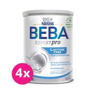 4x BEBA EXPERTpro Lactose free, počiatočná dojčenská výživa, 0 , 400 g