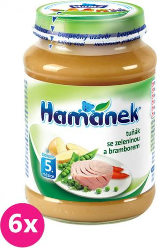 6x HAMÁNEK Tuniak so zeleninou a zemiakmi  - mäso-zeleninový príkrm