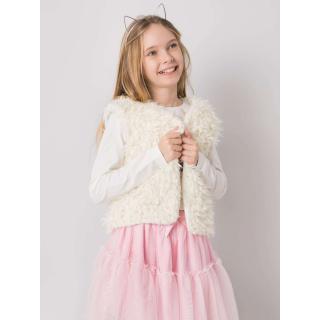 A cream fur vest for a girl dámské Neurčeno 104