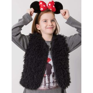 A fur vest for a girl is black dámské Neurčeno 110