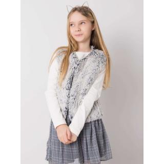 A fur vest for a girl, light gray dámské Neurčeno 104