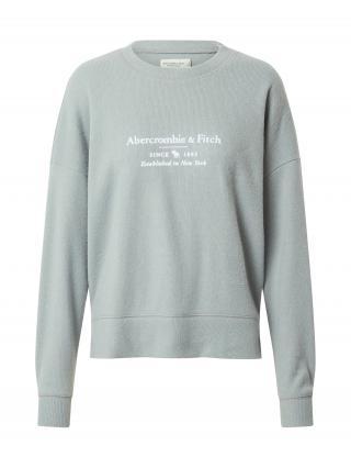 Abercrombie & Fitch Mikina  biela / pastelovo zelená dámské XL