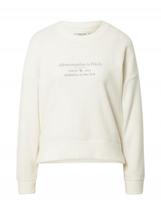 Abercrombie & Fitch Mikina  biela / sivá dámské XS