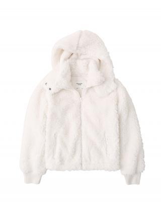 Abercrombie & Fitch Tepláková bunda  biela dámské XS