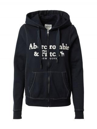 Abercrombie & Fitch Tepláková bunda  čierna / biela dámské S