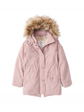 Abercrombie & Fitch Zimná bunda  ružová / hnedá / krémová dámské 158-164