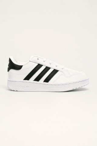 adidas Originals - Detské topánky Team Court biela 28