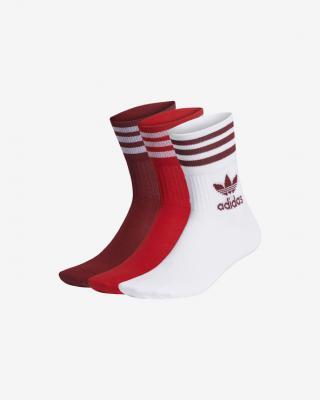 adidas Originals Mid Cut Ponožky 3 páry Červená Biela pánské M