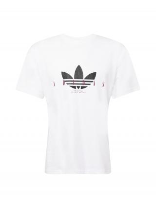 ADIDAS ORIGINALS Tričko  biela / čierna / baklažánová pánské XS