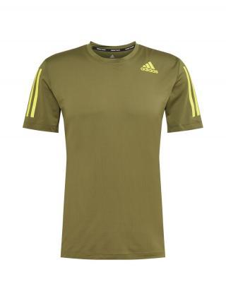 ADIDAS PERFORMANCE Funkčné tričko  olivová / žltá pánské S