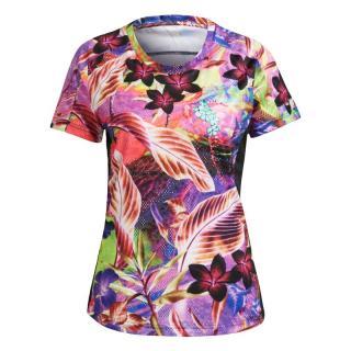 ADIDAS PERFORMANCE Funkčné tričko Own The Run  tmavoružová / zmiešané farby dámské XS