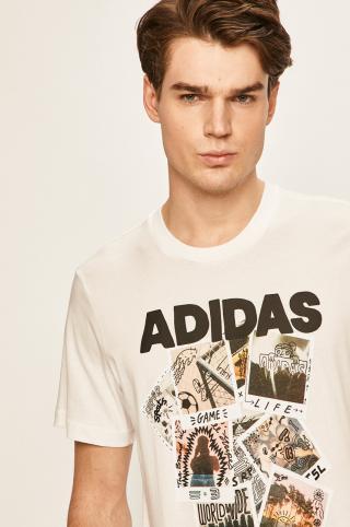 adidas Performance - Pánske tričko pánské biela M