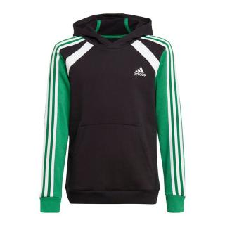 ADIDAS PERFORMANCE Športová mikina  čierna / trávovo zelená / prírodná biela pánské 128