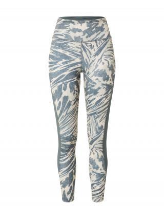 ADIDAS PERFORMANCE Športové nohavice  modrosivá / béžová dámské XS