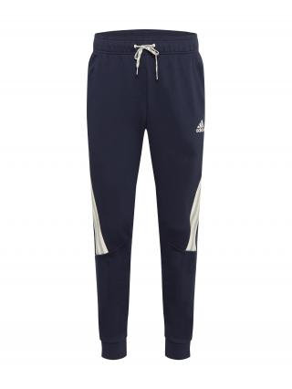 ADIDAS PERFORMANCE Športové nohavice  tmavomodrá / béžová / pastelovo zelená pánské S