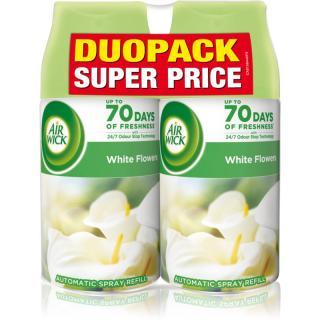 Air Wick Freshmatic White Flowers osviežovač vzduchu náhradná náplň s vôňou DUO 2x250 ml 2x250 ml