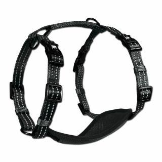 Alcott Reflexný postroj pre psov veľkosť M, čierna