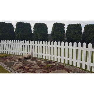 Aldotrade Záhradný plôtik Mega biela, 4,7 m
