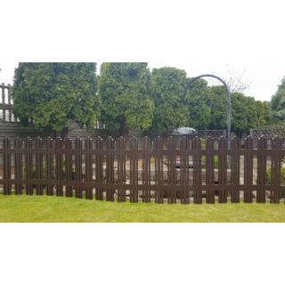 Aldotrade Záhradný plôtik Mega hnedá, 4,7 m