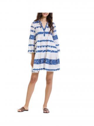 Anany modro-biele šaty Rosario dámské biela M