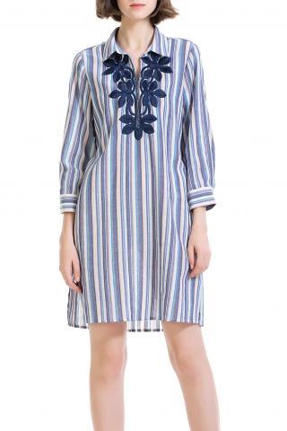 Anany pruhované košeľové šaty Ejido - 38 dámské modrá 38