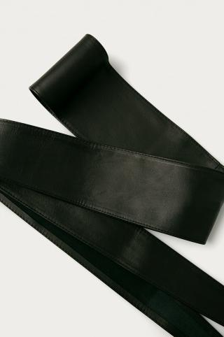 Answear Lab - Kožený opasok dámské čierna ONE SIZE