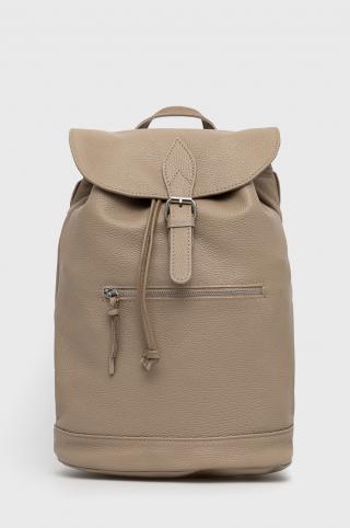 Answear Lab - Kožený ruksak dámské béžová ONE SIZE