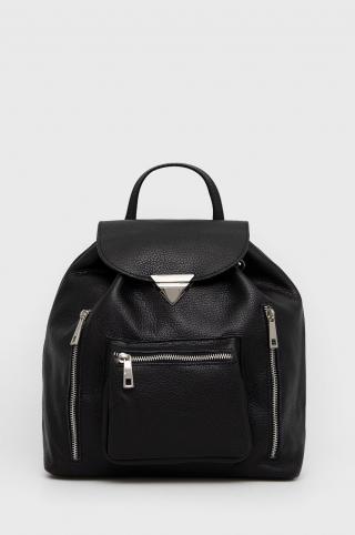 Answear Lab - Kožený ruksak dámské čierna ONE SIZE