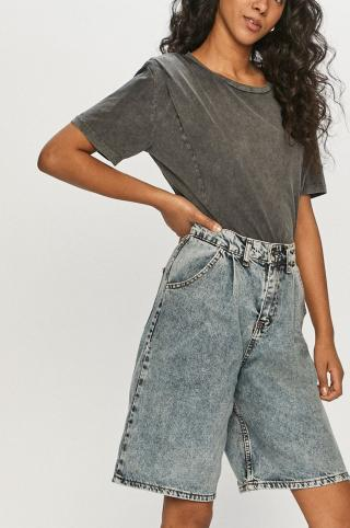 Answear Lab - Rifľové krátke nohavice dámské modrá S