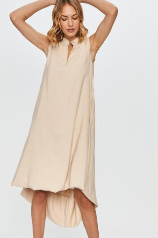 Answear Lab - Šaty dámské béžová S