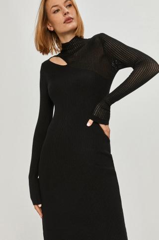 Answear Lab - Šaty dámské čierna ONE SIZE