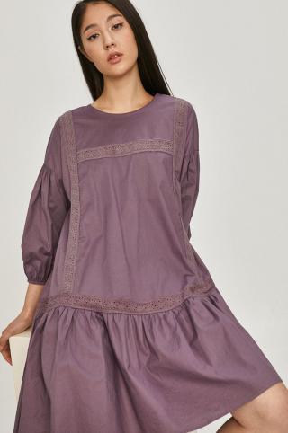 Answear Lab - Šaty dámské fialová S